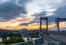 Royal Albert and Tamar Bridges at Sunset DV66