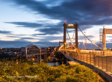 Royal Albert and Tamar Bridges at Twilight DV67