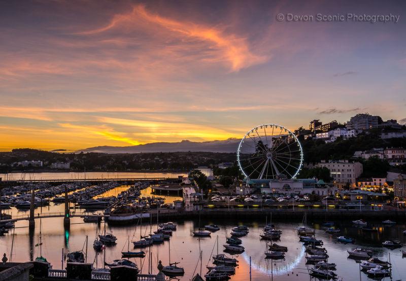 Torquay Harbour Sunset TW14