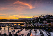 Torquay Harbour Sunset TW14