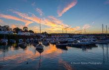 Paignton Harbour Sunset P26