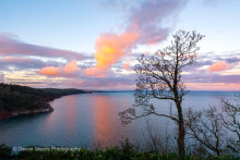 Babbacombe Downs at Sunset T141