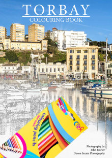 Torbay A4 Colouring Book with 12 Colour Pencils