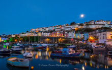 Brixham Harbour By Moonlight B24