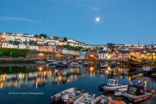 Brixham Harbour By Moonlight B30