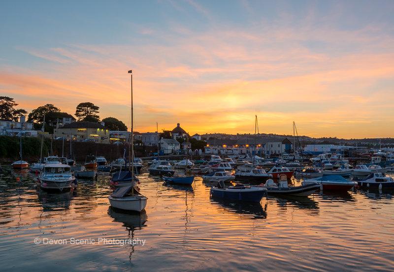 Paignton Harbour Sunset P32