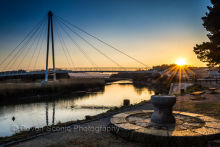 Sunrise,Bridge at Newton Abbot Quay DV24