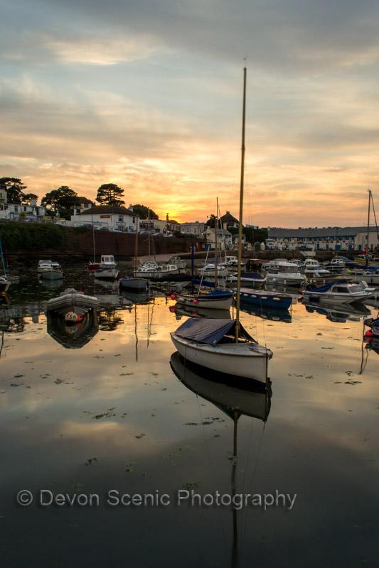 Paignton Harbour Sunset P05