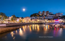 Torquay Harbour By Moonlight T158