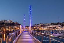 Torquay Harbour Bridge At Night T159