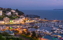 Torquay Harbour by Night T136
