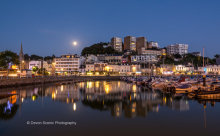 Torquay Harbour By Moonlight T137