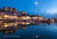 Torquay Harbour by Moonlight T139