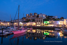 Torquay Harbour At Night T125