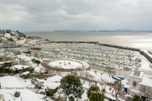 Torquay Harbour In The Snow T166