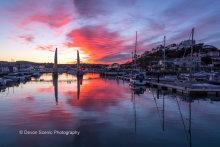 Torquay Harbour Sunset T143