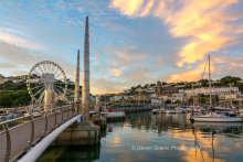 Torquay Harbour Sunset TW38