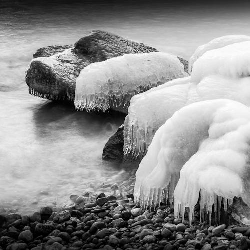 Icy Rocks, near Rolle, Switzerland 2012