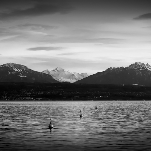 Mt Blanc, from Morges, Switzerland 2007