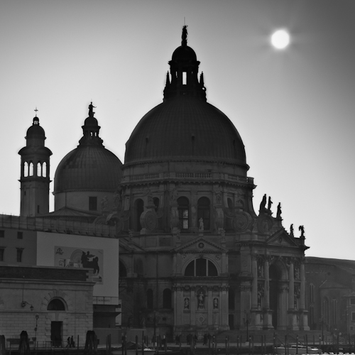 Sunset over Santa Maria della Salute, Venice, Italy 2011