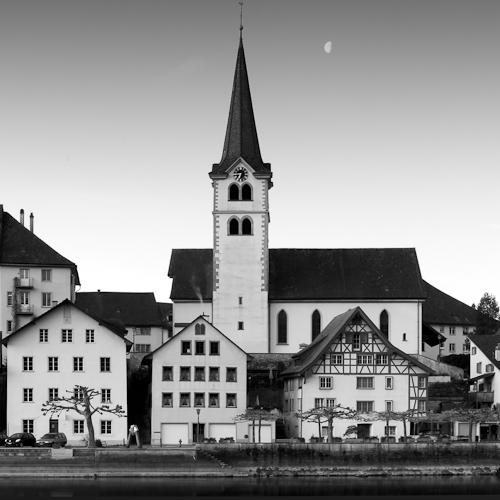 Moon over Diessenhofen, Switzerland, 2010