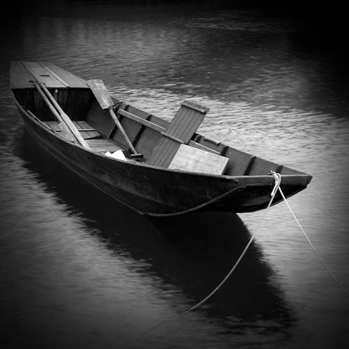 Boat on the Rhine, Stein am Rhein, Switzerland 2011