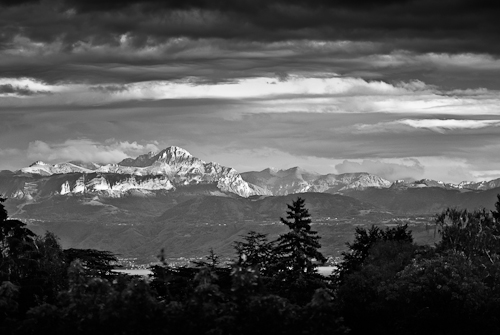 Montains from Morges, Switzerland, 2010