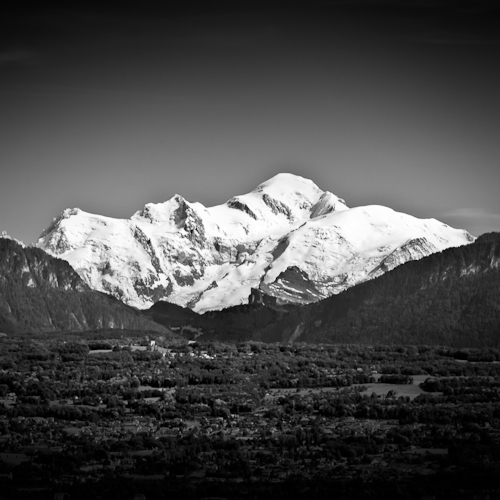 Mt Blanc from Morges, Switzerland 2011