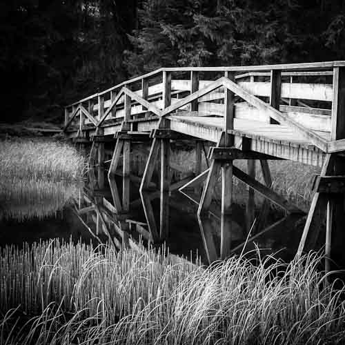 Wooden Bridge I, L'Etang de la Gruère, Switzerland 2012