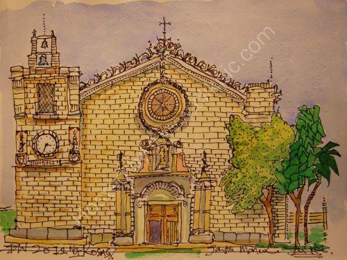 Church at L'Escala, Catalonia