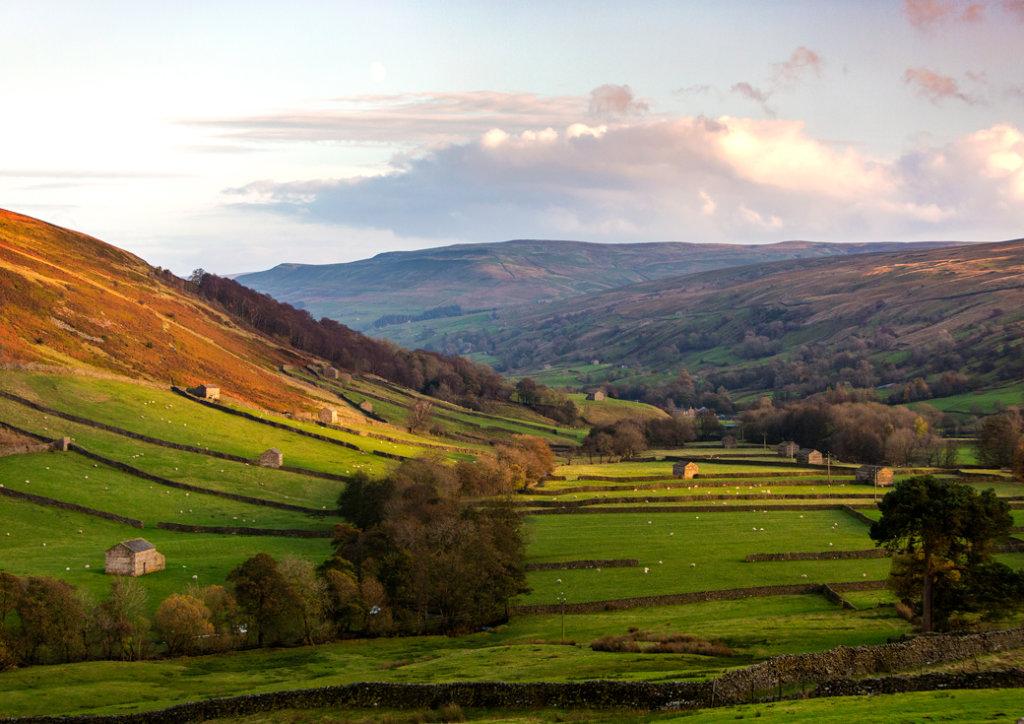 Evening Sun Yorkshire Dales