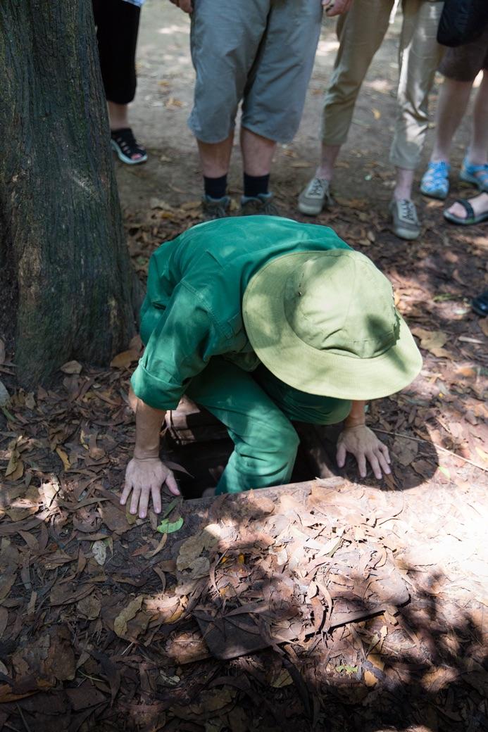 Vietkong hiding Hole