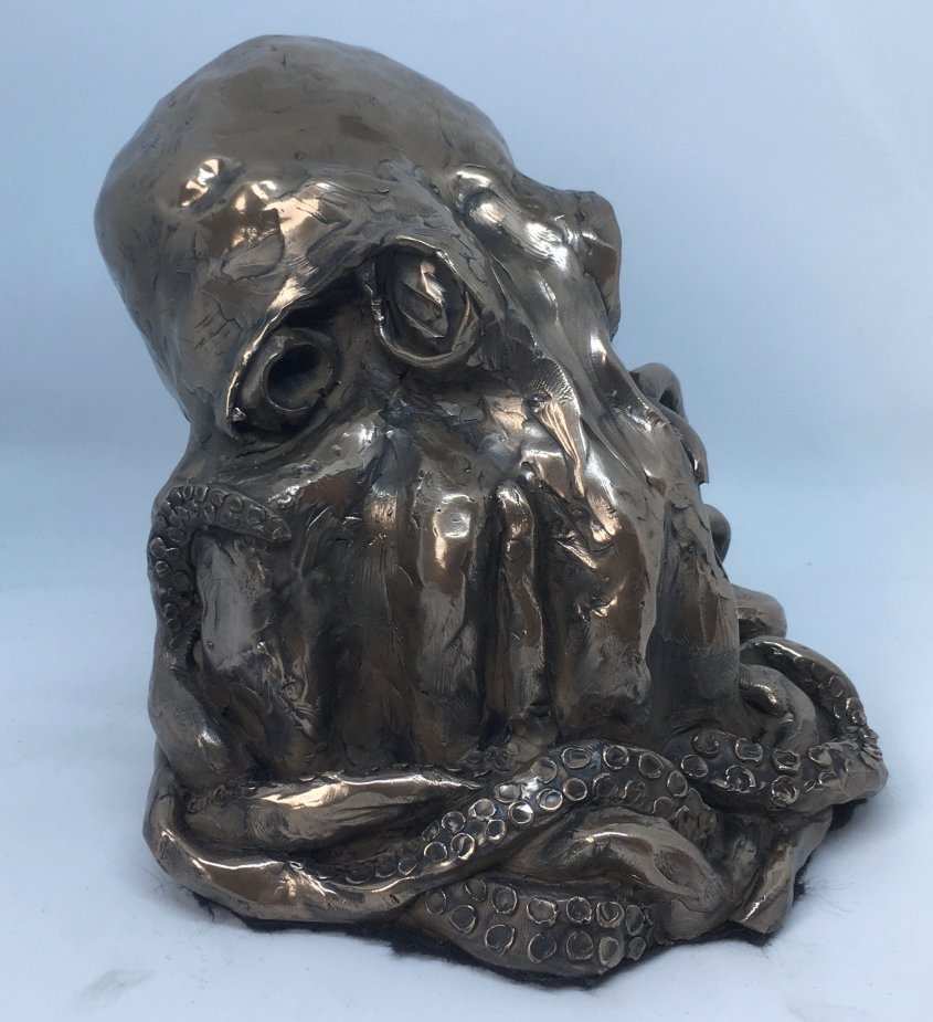 Octopus, cold cast bronze, - £120