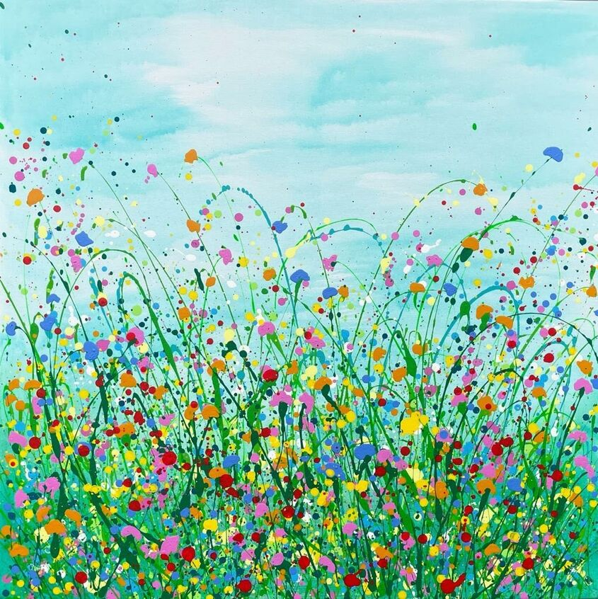 The joy of nature's beauty 80x80cm, acrylic on canvas - sold