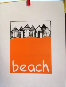 Beach, (A4)