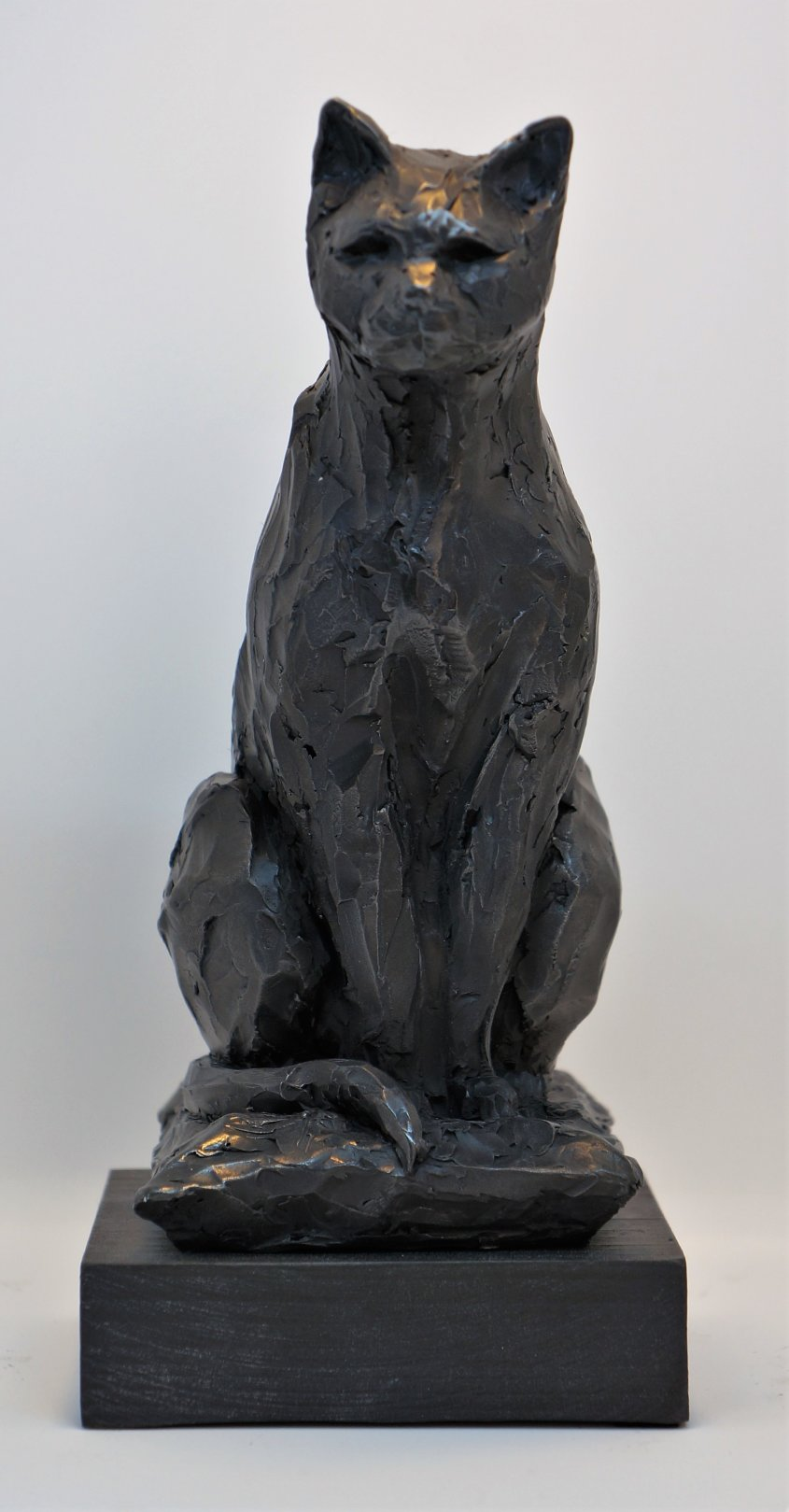 Cat, cold cast iron, approx 25cm tall - £45