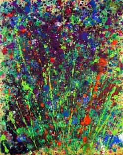"""Meadow 4, acrylic on canvas, 16x20"""""""
