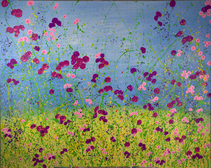 Meadow, acrylic on canvas, 100x80cm - sold