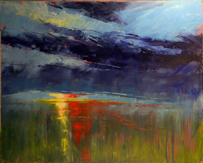 yellow and orange, oil on canvas, 100x80cm