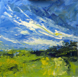 landscape, oil on board, 40x40cm (sold)
