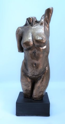 Torso, cold cast bronze,
