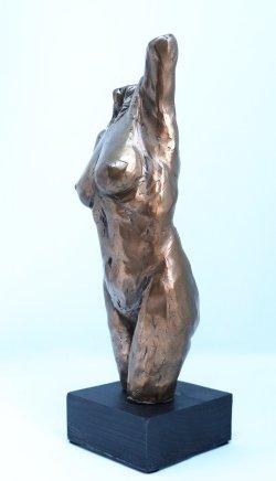 Torso, cold cast bronze