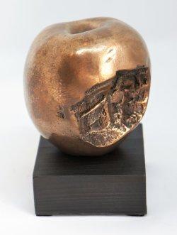 Forbidden Fruit, cold cast bronze