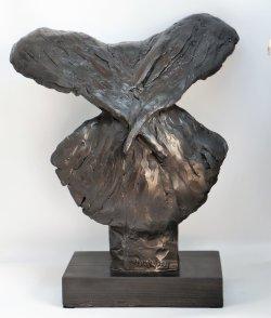 Corvus, cold cast iron - back view