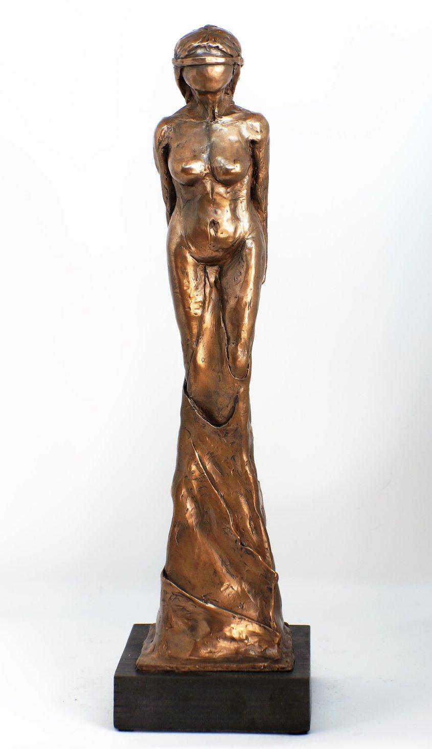 Faith, cold cast bronze, approx 30cm tall - £95