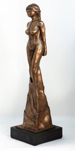 Faith, cold cast bronze, approx 30cm tall