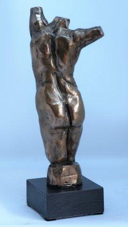 Twist, cold cast bronze
