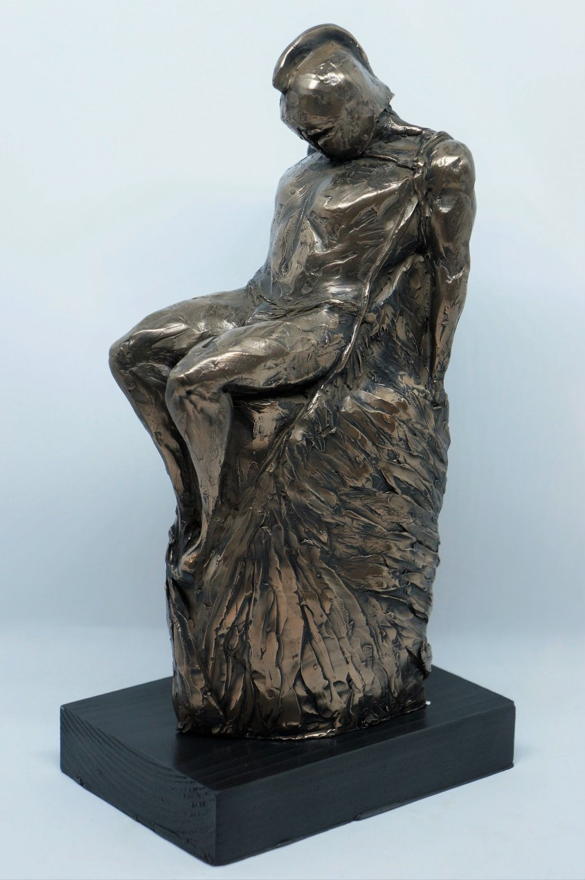 Daedalus, cold cast bronze, approx 30cm tall incl base - £100