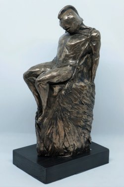Daedalus, cold cast bronze, approx 30cm tall incl base