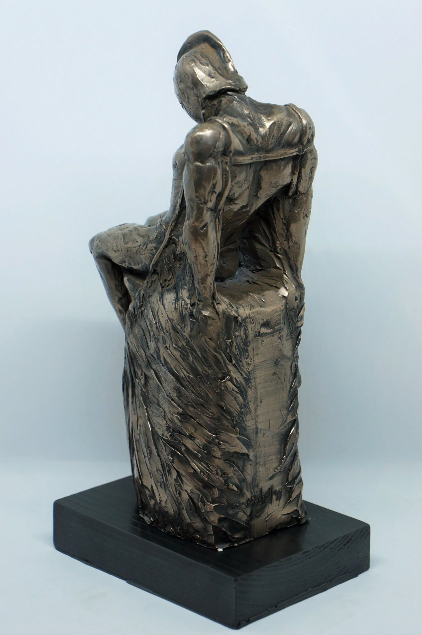 Daedalus (rear view), cold cast bronze